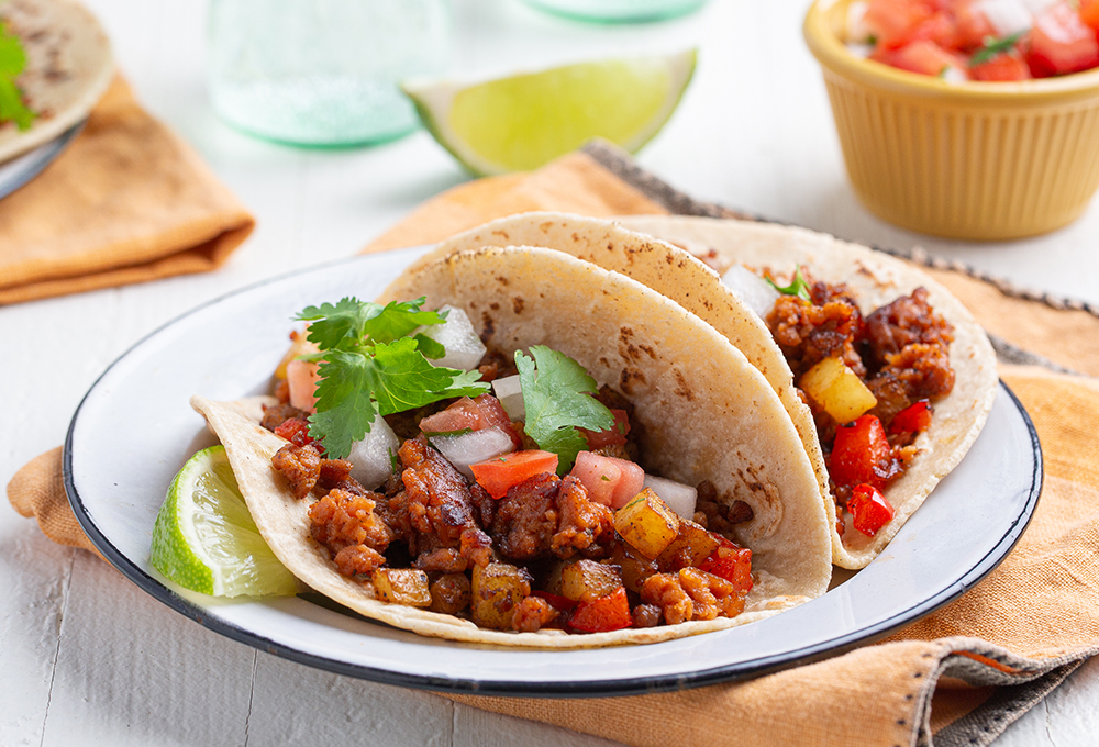 Ground Tacos with Pico De Gallo